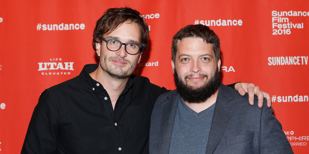 David Farrier and co-director Dylan Reeve arrived at the Tickled premiere at the Sundance Film Festival. Photo/Getty