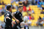 Sonny Bill Williams recieves a pass from Augustine Pulu to score with his first touch. Photo / Getty