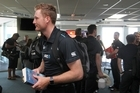 Martin Guptill - Black Caps cricket team arrive at Hawke's Bay Airport, Napier, for their ODI against Pakistan at McLean Park, Napier, on Thursday. 26 January 2016 NEWS Hawke's Bay Today Photograph by Duncan Brown.