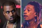 Rap stars Kanye West and Wiz Khalifa. Photo / Getty Images