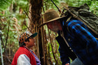 Juilan Dennison and Sam Neill in a scene from Hunt for the Wilderpeople.