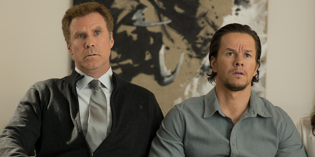 Left to right: Will Ferrell plays Brad Whitaker, Mark Wahlberg plays Dusty Mayron in Daddy's Home. Photo / Patti Peret