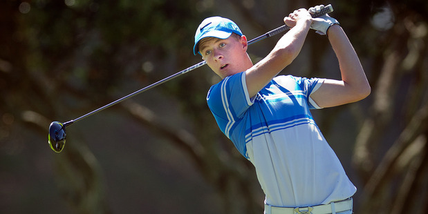 Harry Hillier has had the best week in his golfing career so far with two tournament wins. Photo / Andrew Warner