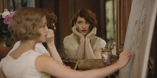 Eddie Redmayne in a scene from the movie, The Danish Girl.