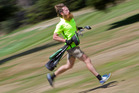 WORLDCHAMP: Irishman Rob Hogan showed off his skills at the New Zealand Speedgolf Open in Rotorua. PHOTO/BEN FRASER