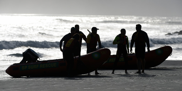 The search for the missing 17-year-old Hamish Rieger on Saturday. Photo/George Novak