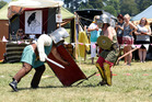 The Medieval Faire at the Tauranga Racecourse with Gladiator fighters Victor Rosendale and David Layzel. Photo/George Novak