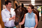 Victorian trainer Henry Dwyer and jockey Michelle Payne with the younger brother to her Melbourne Cup-winning ride Prince Of Penzance which he bought for $200,000. Picture / Dean Purcell