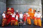 The Hup Jong Mune lion dance troupe will perform at SkyCity during the Chinese New Year. Photo / Michael Craig