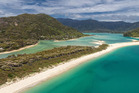 Abel Tasman National Park's Awaroa Inlet, is currently up for grabs for $2 million. Photo / Supplied