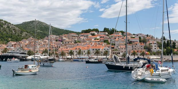 The city of Hvar in the Adriatic Sea.