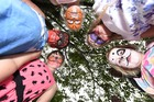 Bay News Face painted kids for a Kids Go Wild day. L-R Ruby Moffatt, Elisha Hamahona, Jasmine Smart, Amelia Tweddell and Poppy Smart. Photo/George Novak