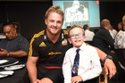 Austin Manning fundraising dinner with the Chiefs rugby team. Sam Cane left and Austin Manning. Photo/George Novak