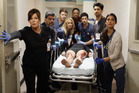 Marcia Gay Harden (front left) says the character she plays in Code Black, Dr Leanne Rorish, 'is really good at what she does' - saving lives. Photo / ABC Studios