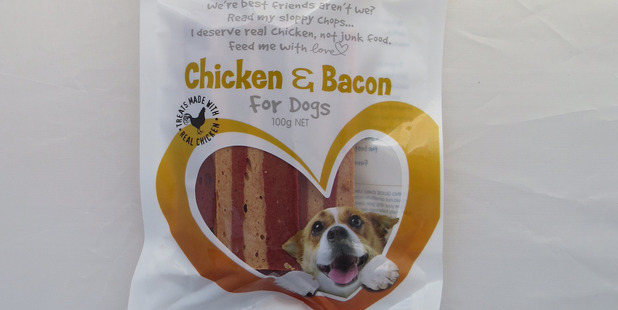 Vitapet Jerhigh Chicken and Bacon. $4.79 for 100g. Photo / Supplied