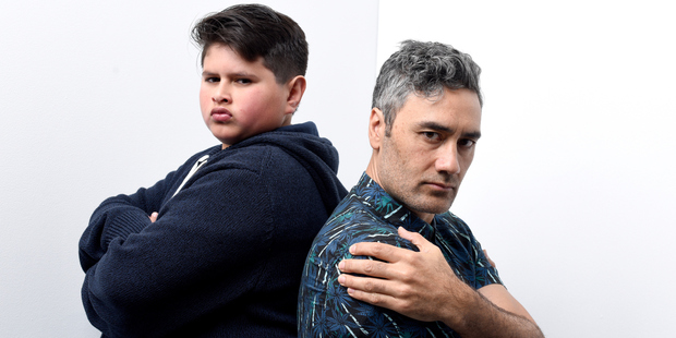 Actor Julian Dennison and writer/director Taika Waititi from the film Hunt for the Wilderpeople. Photo / WireImage