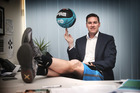 Pictured is basketball player Dillon Boucher of The Breakers who is taking up an office job with the franchise. 29th January 2016 New Zealand Herald photograph by Doug Sherring.