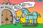 Herald on Sunday Cartoon: Ride the horse