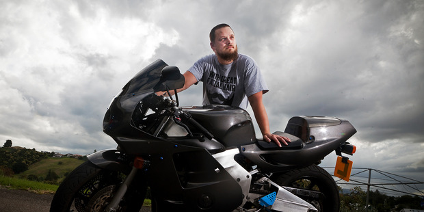 Kyle Fetherston was hit by a car while riding home in Welcome Bay in August 2014. Photo/Andrew Warner