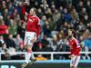 Manchester United's Wayne Rooney, left, celebrates his goal. Photo / AP.