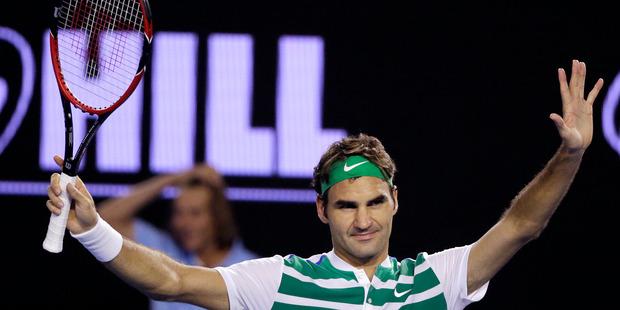 Roger Federer broke the sponsorship mould for the modern player. Photo / AP