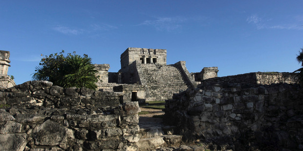 Tulum is a popular tourist hot-spot thanks to its ancient Mayan ruins, but now there is set to be a charge for using mobile technology. Photo / AP