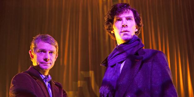 A scene from Sherlock Holmes.