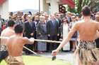 New Zealand Prime Minister John Key arriving at Te Tii Marae in February last year.