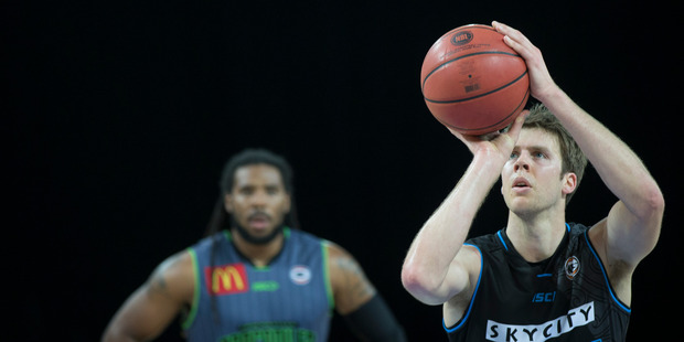 Thomas Abercrombie of the SkyCity New Zealand Breakers. File photo / Nick Reed