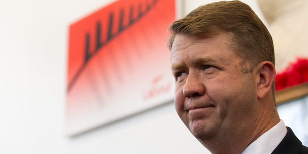 Former Labour Party leader David Cunliffe speaks to the media at his New Lynn Electoral office. Photo/ Jason Oxenham