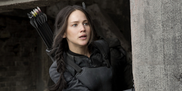 Jennifer Lawrence stars as heroine Katniss Everdeen in the Hunger Games movies.