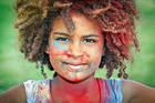 Colour Splash is back this weekend at Coronation Park, Mount Maunganui. Malia McGuire, 6, enjoyed last year's festivities in the park. Photo/File