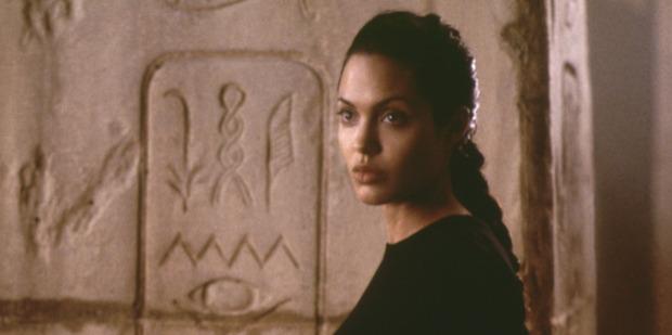 Angelina Jolie stars in the movie Tomb Raider.