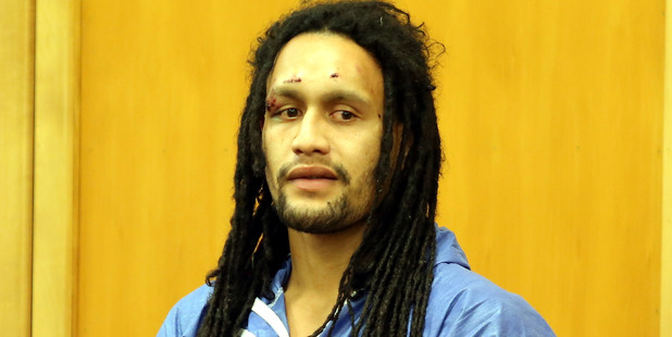 Dolphy Kohu in Whanganui District Court in August after manhunt in the Waimarino.