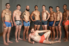DJ Forbes, Victor Vito, Scott Curry, Malakai Fekitoa and Tawera Kerr-Barlow in the Real Men ad campaign.