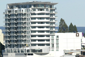 Devonport Towers, changing the skyline of downtown Tauranga. Photo/file