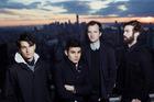Rostam Batmangliji (second from left) has left indie group Vampire Weekend.