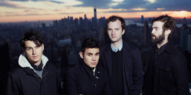 Rostam Batmangliji (second from left) has left indie group Vampire Weekend.