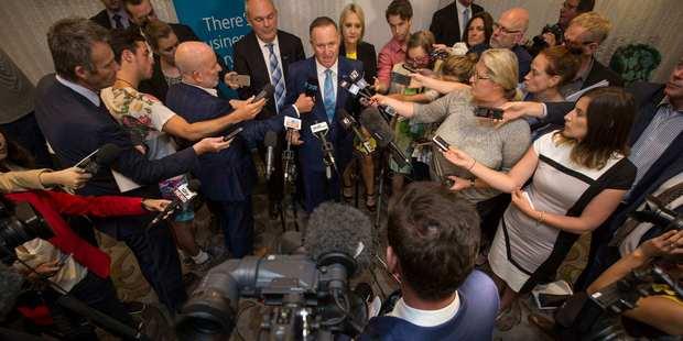 John Key has plenty to say to hard-working families and ordinary Kiwis via the media. Photo / Greg Bowker
