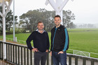 DB's commercial manager, Nick Rogers (left), and Hurricanes CEO Avan Lee are looking forward to Eketahuna RFC hosting next month's pre-season Hurricanes v Blues game. PHOTO/NZME.
