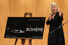 Anna Pierard, speaking at Meet the Family, a function at Blyth Performing Arts Centre, Iona College, Havelock North, to announce that La Boheme will be the opera to be produced by Festival Opera in the Napier Municipal Theatre, Napier, over Art Deco Weekend 2016.