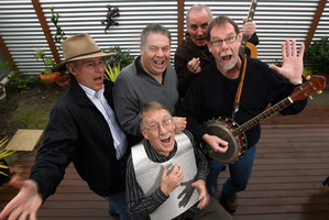 When Alec Wishart (pictured front, playing the washboard) turned 70 back in 2009 it was a fine time to get the Hogsnort lads around again. From left, rear: Kevin Findlater, Dean Ruscoe, Dave Luther and Neil Worboys.