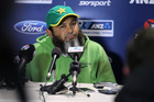 Bowling coach Mushtaq Ahmed.
