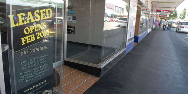 Empty Masterton Lands Trust-owned premises at the northern end of Queen St will have new tenants next month, says trust manager and secretary Gary Percy. PHOTO/EMILY NORMAN