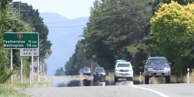 Cars shimmer in 30C-plus heat along SH2 between Greytown and Featherston in South Wairarapa. PHOTO/FILE