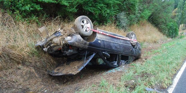 A Tinui woman has escaped serious injury after rolling her car while overtaking. PHOTO/ALISA YONG