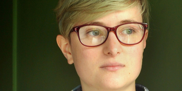"Scout Barbour-Evans, a Dunedin transgender activist who goes by the gender-neutral pronoun ""they"", said an officer knocked on their door about 10 yesterday. Photo / Otago Daily Times"