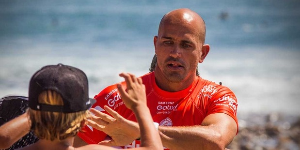 Kelly Slater has saved the life of a mother and child who were swept away at sea. Photo / Getty Images.