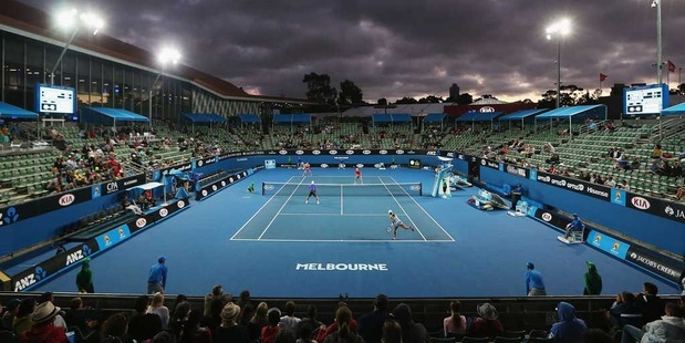 A major sports gambling website suspended betting on a doubles match yesterday at the Australian Open. Photo / Getty Images.