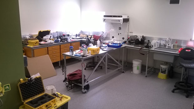 One of the three new laboratories of the Hillary Field Centre.